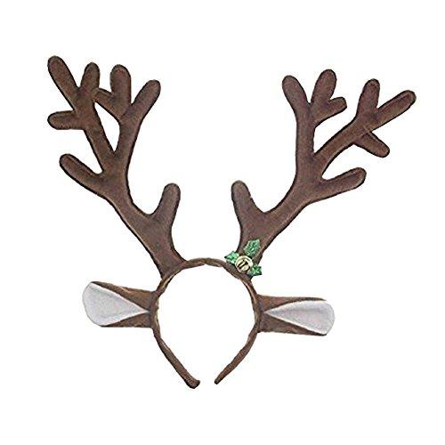 Bello Luna Reindeer Geweihe Stirnband Weihnachten Halloween Ostern Party Headwear Haarband Haarband Haar (Rentier Kostüme Stellen)