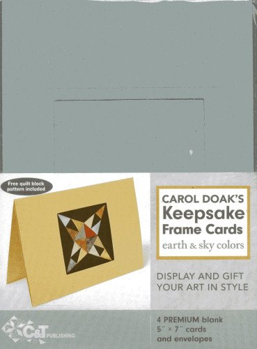 Carol Doak's Keepsake Frame Cards: Earth & Sky Colors -