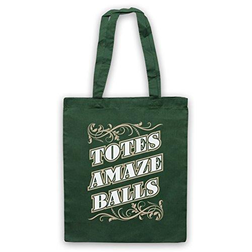 Slogan Amazeballs Totes Tote Bag Verde scuro