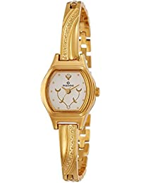 Maxima Formal Gold Analog White Dial Women's Watch - 09438BPLY