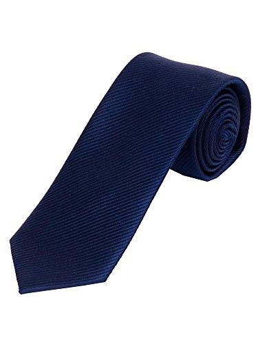 Uni - Seiden - Krawatte in nachtblau Breite ca. 5.5cm/148cm lang