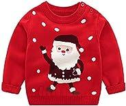 DaobaKIDS Suéter Navidad Niños Sudadera Invierno Jerseys de Punto Traje de Navidad Pullover Niñas