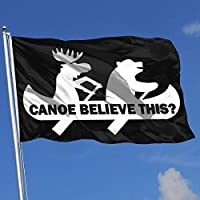 OLYIE Canoe Believe This Bear Moose Funny 3x5 Foot Flags Outdoor Flags 3X5 Ft Flag for Outdoor Indoor Home Decor Sports Fan Football Basketball Baseball Hockey Decorative Banner
