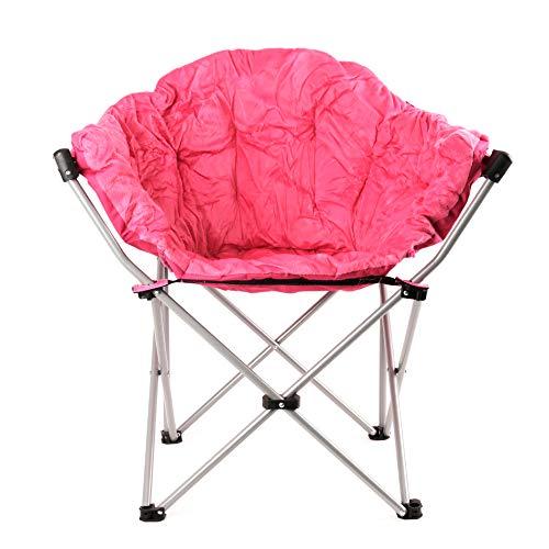 Estexo Gepolsterter Camping-Klappstuhl XXL (Pink)