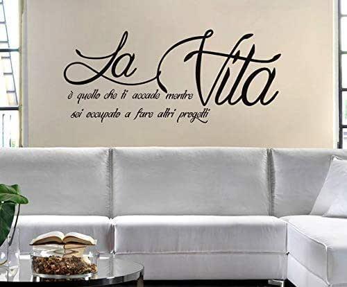 Adesivi Murali Frasi la Vita è quello che ti accade Adesivi Muro Frasi e Citazioni Wall Sticker Amore sticker