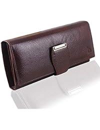 Mtuggar® Women Clutch Wallet Genuine Leather (2805-BRN)