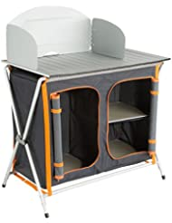 Ultrasport Campingküche - Faltschrank, 3 Fächer, Arbeitsfläche inkl. Windschutz & Aufbewahrungstasche