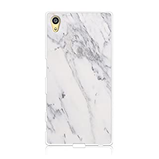 Handyhülle für Sony Xperia Z5 - TPU Silikon Schutzhülle - Hülle mit Motiv - Design Case - Cover - Backcover - Handy Schale (Marmor weiß)