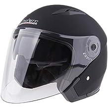 Sharplace Casco de Cara Abierta Motocicleta 3/4 Con Visera Completa Unisexo Motociclista - Mate