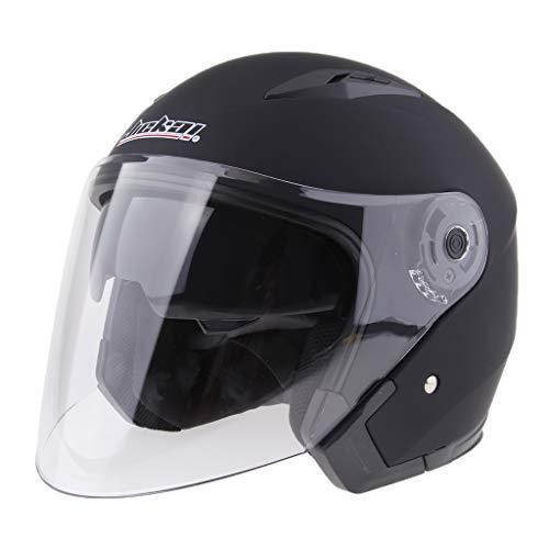 Sharplace Casco Cara Abierta Motocicleta 3/4 Con Visera