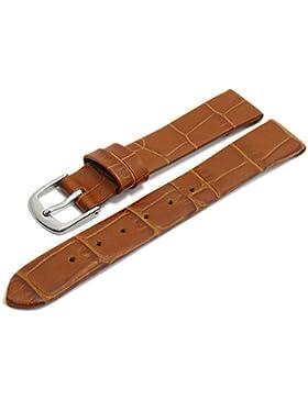 Meyhofer Uhrenarmband Pensacola 10mm hellbraun Leder Clip-Anstoß Alligator-Prägung ohne Naht MyHeklb187/10mm/hbraun...