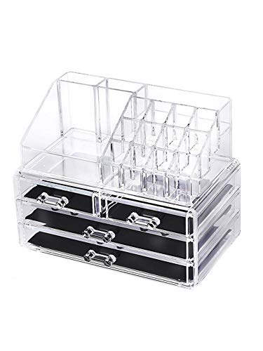 Make-up-Organizer, multifunktionale transparente Acryl-Aufbewahrungsbox Schublade Typ Aufbewahrungsbox Nagel-Tool, mit HD-Acryl, die Box ist hell und transparent -