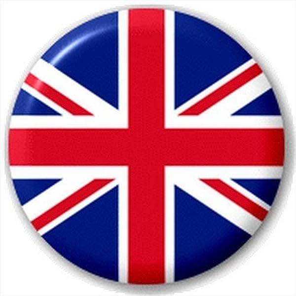 Button Pin Badge Union Jack Flag 25mm 1 INCH British UK Mod Badge Gift
