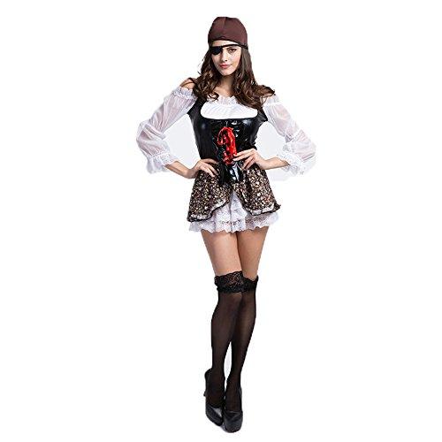 D_HOME Schönheits-Piraten-Kostüm-Halloween-Kostüm-weibliche ()