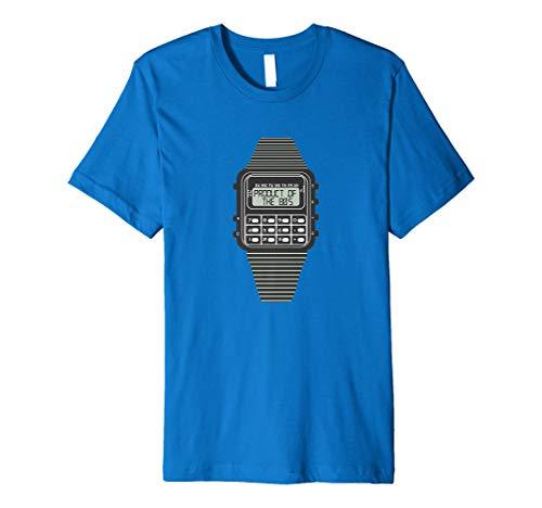 Produkt Der 80Er T-Shirt Retro Taschenrechner Uhr T-Shirt
