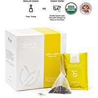 Té Assam Oolong Exótico Orgánico Teabox 40 g, 16 bolsas Teapac | Bajo en cafeína, alto contenido en antioxidantes | Ingredientes naturales: tés Oolong | Fresco y sellado en origen en la India
