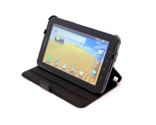 StilGut UltraSlim Case, Tasche mit Stand- und Präsentationsfunktion passend für Samsung Galaxy Tab 7.0, schwarz (Case P1000 Samsung)