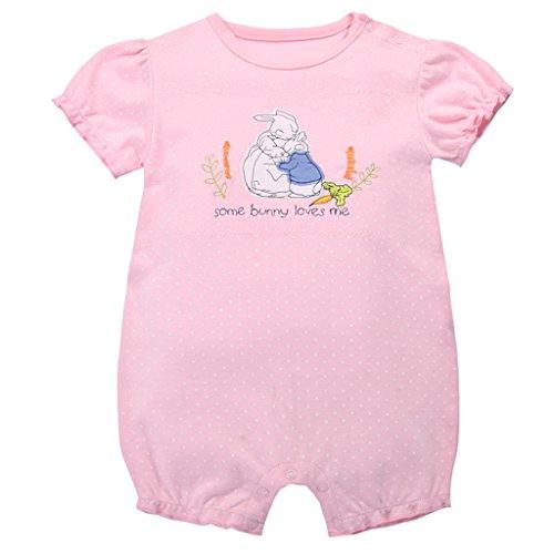 Bambino Pagliaccetto - Neonata Cotone Pigiama Manica Corta Tuta Bambina Tutina Attrezzatura Body Bimbo, 6-9 Mesi