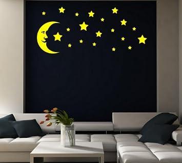 Moon And Stars   Kidu0027s Room / Nursery / Bedroom Wall Sticker (1 Moon And