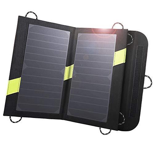 X-DRAGON Solar Ladegerät 14W 2-Port USB Outdoor Handy SunPower Solar Panel Ladegerät für Andriod Smartphone, Tablets, iPhone, iPad Samsung usw. Usb Solar Panel