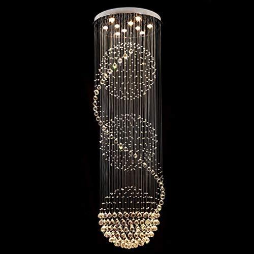 LZQ Led Beleuchtung Brain Drop Spiral K 9 Kronleuchter von Deckenleuchte Kristall, Beleuchtung Lampen und Laternen Licht Lounge Flur Hindoor,4 Lichter / 40 * 120cm - 4 Licht Kronleuchter Flur
