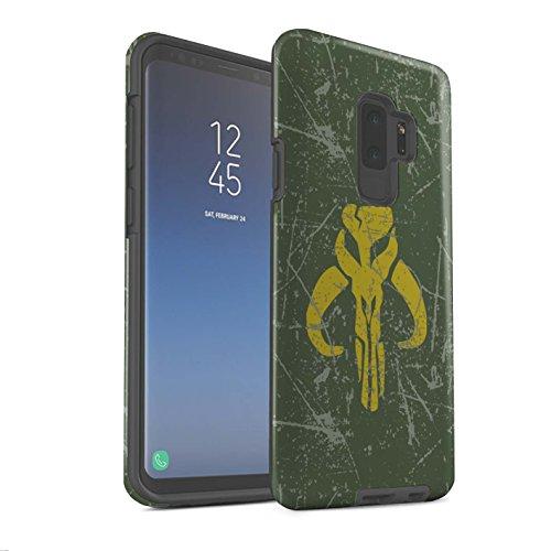 Stuff4® Matte Harten Stoßfest Hülle/Case für Samsung Galaxy S9 Plus/G965 / Kopfgeldjäger Inspiriert Muster/Galaktisches Symbol Kunst Kollektion (Symbole Galaktische)