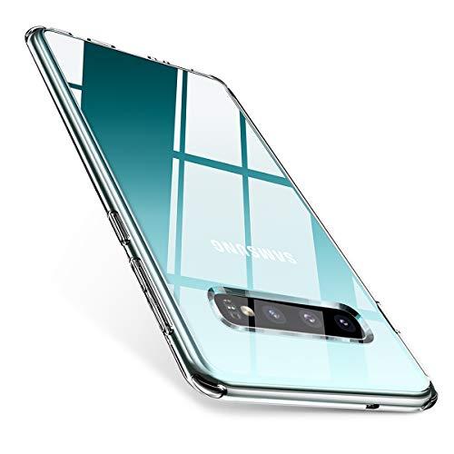 AINOPE Kompatibel Hülle Samsung Galaxy S10 Dünn Crystal Klar Transparent Schutzhülle - Schutzcase aus Hard PC-Rücken und Weichem TPU Bumper 6.1in 2019 Hard Case Cover