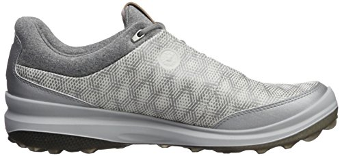 ECCO Mens Biom Hybrid 3 GTX, Scarpe da Golf Uomo Bianco (White/silver Metallic 53357)