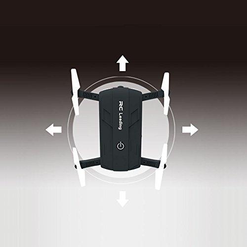 Preisvergleich Produktbild FuSon Mini Aircraft Drone Quadcopter 6-Achsen Gyro Höhe Hold Aircraft Falten Airscrew Portable Hubschrauber HD Kamera (Schwarz)