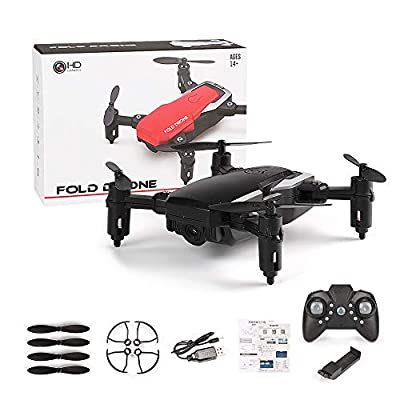 MYGIRLE Drone with Camera, Foldable Arms RC Drone with Wi-Fi Camera 2.4GHz 6-Axis Gyroscope Quadcopter Altitude Hold, Headless Mode, One Key Return Easy Operation for kids & Beginners
