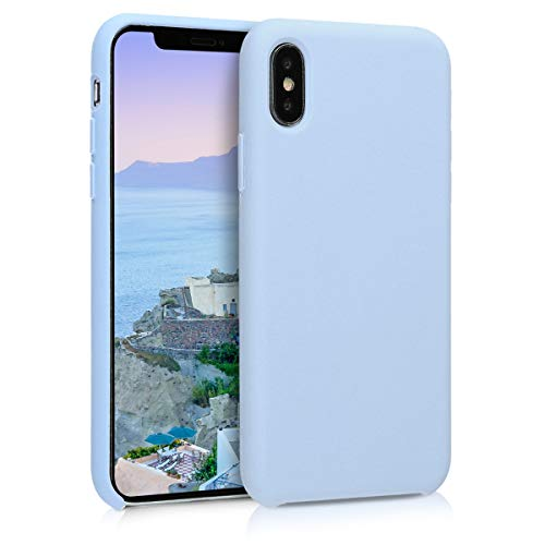 kwmobile Apple iPhone X Hülle - Handyhülle für Apple iPhone X - Handy Case in Hellblau matt