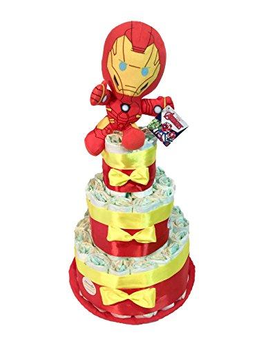 Tarta de pañales DODOT The Avengers Iron Man Talla 2 3-6 kg