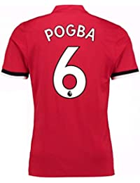 2017-2018 Man United Home Football Soccer T-Shirt Maillot (Paul Pogba 6 af9f56baf393