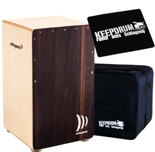 Schlagwerk CP-408 Cajon 2inOne Dark Oak + keepdrum Gig Bag + Sitzpad