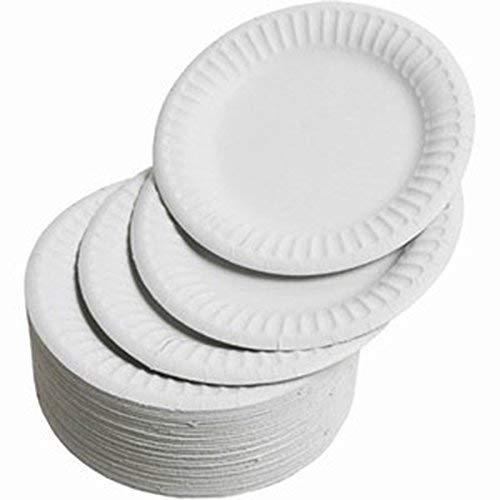 Party Papier Teller–100PCS/Set Heavy Duty Teller 100% natürlich Zuckerrohr biologisch abbaubar kompostierbar Bagasse, umweltfreundlich Papier Alternative–Rund Einweg Platten–Party Gerichte 11,2x ()