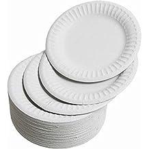 Platos de papel para fiesta, 100 unidades, platos de azúcar 100 % naturales,