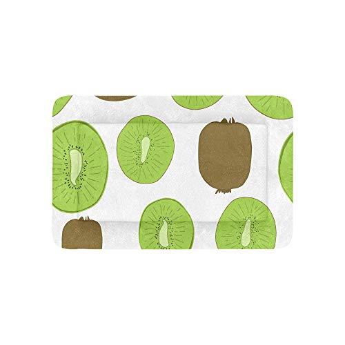 Plosds Kiwi Cartoon Obst Scheibe Grün Extra Große Individuell Bedruckte Bettwäsche Weiche Hundebett Couch Für Welpen Und Katzen Möbel Matte Cave Pad Kissenbezug Innen 36x23 Zoll -