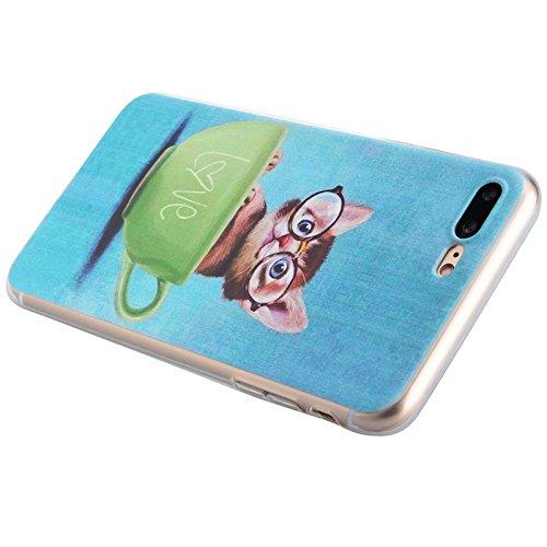 iPhone 7 Coque, Yokata Ultra Mince Prints Motif Cover avec Silicone Gel Bumper Transparente Housse Case + 1*Stylet - Don't Touch Me Chat