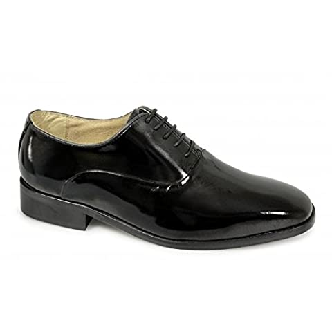 Montecatini Mens Patent Leather Evening Oxford Shoes Black UK 13