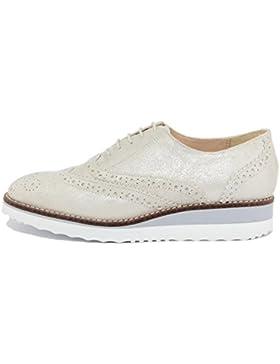 ARNALDO TOSCANI - DONNA - scarpa stringata in pelle - 2110608_GLITTER_PORCELLANA_TS