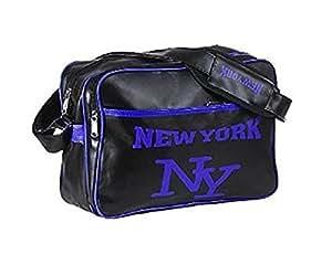 Sac besace reporter messenger new york noir bleu usa etats unis