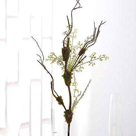ShiQi fiori artificiali finti 1 testa vaso sul pavimento Soggiorno decorazione floreale Party Festival banchetti decorazione nidi di uccelli Moss testa
