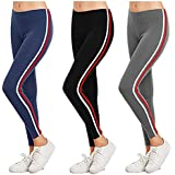 FITG18 Women's Slim Fit Legging (Fitg18, Assorted, Free Size) - Pack of 3