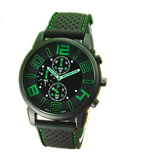 LYZZGZZ-Armbanduhren-Mode-Herren-Silikon-Uhr-DREI-groe-Zifferblatt