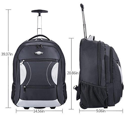 Zaino trolley coofit valigia trolley bagaglio a mano borsa for Bagaglio a mano con custodia per laptop rimovibile