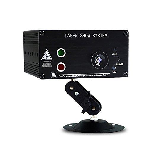 ELLANM Bühnenbeleuchtung RGB LED Sound Aktiviert Strobe-Effekt-Licht mit Fernbedienung 48 Lichtmuster zur Auswahl Dpss-laser