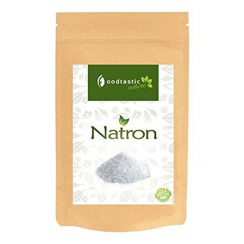 Foodtastic Natron 1kg / 1000g (NaHCO3) I Natriumhydrogencarbonat Backsoda I vielseitig einsetzbar I Zutat für Basenbad und Backen I Reinigungsmittel I Lebensmittelqualität E500