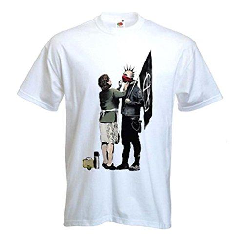 Banksy Punk mamá Camiseta de Manga Corta para Hombre (Tallas S a...