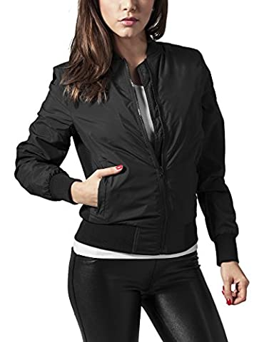 Urban Classics - Ladies Light Bomber Jacket - Blouson Femme -Noir (Black 7) - 42 (Taille Fabricant: L)