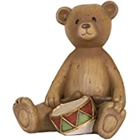 6PR0629 Clayre & Eef - Decorazione - Figura decorativa - Orso - Tamburo